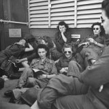 Group of Us Army Nurses Relaxing During Stopover on Guam En Route to their Final Destinations Photographic Print by J. R. Eyerman