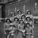 The Ten Daughters Modelling their New Easter Wear Photographic Print by Nina Leen