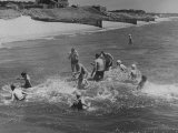 Sights of a Typical Summer at Cape Cod: Swimming in Nantucket Sound Photographic Print by Alfred Eisenstaedt