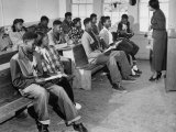 Small and Over-Crowded African-American School Is Really a One Room Baptist Church Premium Photographic Print by Ed Clark