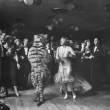 The Tiger Getting Expert Instructions from the Lady, During Charleston Party Photographic Print by Martha Holmes