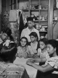 Family of Immigrants from Puerto Rico Premium Photographic Print