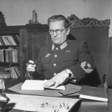 Marshal Tito Working at His Desk Photographic Print