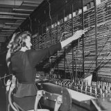 Two Women Operating Switchboard During Chesapeake and Potomac Telephone Strike Photographic Print by Yale Joel