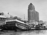Ships on the River Near the Oikwan Hotel Premium Photographic Print by Carl Mydans
