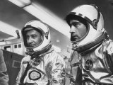 Astronauts Virgil I. Grissom and John W. Young in Spacesuits Premium Photographic Print by Ralph Morse