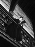 Theology Student on Library Balcony of the General Theological Seminary, Nyc, 1939 Premium Photographic Print by Alfred Eisenstaedt