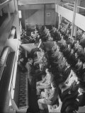 Faculty and Students of Friends Academy Attending Quaker Meeting in Old Meeting House, Long Island Premium Photographic Print by Alfred Eisenstaedt