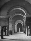An Interior View of the Louvre Museum Premium Photographic Print by Ed Clark