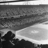 Crowd of Baseball Fans Attending Game at Ebbets Field Photographic Print by Ed Clark