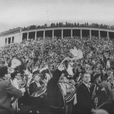 Football Fans at Yale-Harvard Game Photographic Print