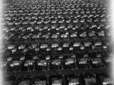 Low Aertial View of Housing Community with Rows of Boxey Look-Alike Houses Premium Photographic Print by Margaret Bourke-White