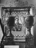 Two Vases from Stalin for the Marriage of the Shah of Iran Premium Photographic Print by Dmitri Kessel