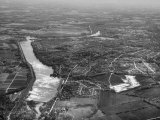 Aerial View of the Suburbs and Farmland Surrounding the City Premium Photographic Print by Margaret Bourke-White