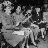 Women's Club Members Singing Choruses Photographic Print by Ed Clark