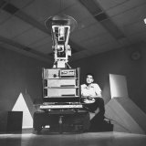 "Computer Scientist Charles Rosen, One of the Heads of ""Shakey"" Project, a Computer Robot Photographic Print by Ralph Crane"