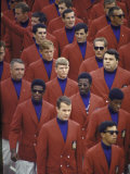 US Team During Opening Ceremonies of the 19th Summer Olympics Premium Photographic Print