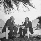 British Economist John Maynard Keynes and Harry D. White Meeting at the Monetary Conf Photographic Print