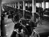 "Midget ""Topolino"" Cars Rolling Off Fiat Plant Production Line Premium Photographic Print by Alfred Eisenstaedt"