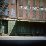 Shuttered Warehouse on the Lower East Side Lit by Late Day Sunlight Photographic Print