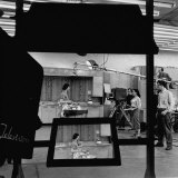 Camera Showing Double Image of Cooking Show Being Filmed on Soundstage of Local TV Station Photographic Print by John Dominis