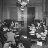 Senate Banking and Currency Committee Holding Hearings Regarding the Bretton Woods Agreements Photographic Print