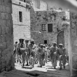 Uniformed Men of the Arab Legion Who are Fighting Jews for Control of Jerusalem Photographic Print