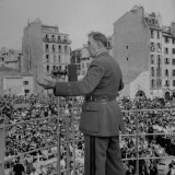 Gen. Charles De Gaulle Addressing Crowd Photographic Print by Dmitri Kessel
