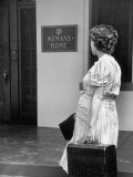 Unwed Mother, 18, Arriving at Salvation Army Maternity Home to Have Her Baby Premium Photographic Print by Ed Clark