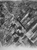 Aerial View of the Bomb-Damaged Krupp Works after an Allied Air Attack on This Devastated City Premium Photographic Print by Margaret Bourke-White