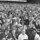 Audience Listening to Winston Churchill Speaking at Wolverhampton Football Field Photographic Print