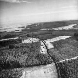 Aerial View over Ardennes Showing Us Tank Company During the Battle of the Bulge Photographic Print