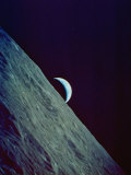 Earthrise over the Moon Taken by the Apollo 17 Crew Photographic Print