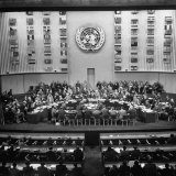 Gallery of the Palais De Chaillot in Paris at the United Nations Security Council October Session Photographic Print by Yale Joel