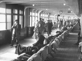 Passengers Walking on Board Ocean Liner Queen Elizabeth Premium Photographic Print by Ed Clark