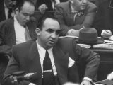 Gangster Mickey Cohen Testifying at Kefauver Hearings During Crime Probe Premium Photographic Print by Peter Stackpole