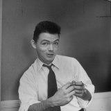 Portrait of Cartoonist Bill Mauldin, Age 28 Photographic Print by Alfred Eisenstaedt