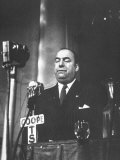 Chilean Poet Pablo Neruda Speaking at the Communist-Inspired Paris Peace Congress Premium Photographic Print
