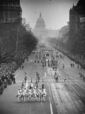 Inaugural Parade for President Dwight D. Eisenhower, with Street Lights Burning Premium Photographic Print