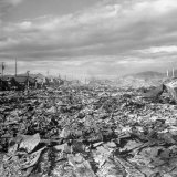 The Damages after the Earthquake in Fukui Photographic Print by Carl Mydans
