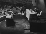 Fidel Castro and Raul Roa at United Nation General Assembly Premium Photographic Print by Ralph Crane