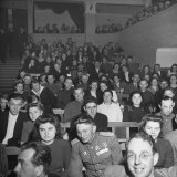 Audience Sitting in Seats at Stalingrad Theatre Photographic Print