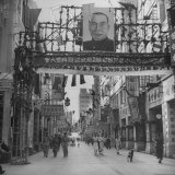 Picture of Li Tsung Jen in Center of Main Street Photographic Print