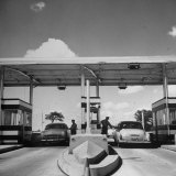 Aluminum Toll Booths Along Newly Constructed Ny State Thruway Photographic Print by Margaret Bourke-White