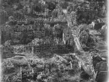 Aerial View of Bomb-Damaged Residential Areas after an Allied Air Attack on This Devastated City Premium Photographic Print by Margaret Bourke-White