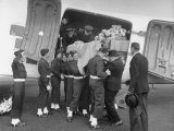 Men Lifting Count Folke Bernadotte&#39;s Coffin from the Plane Premium Photographic Print by Yale Joel