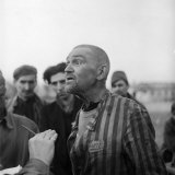 Political Prisoner Being Questioned after He Was Liberated from the Concentration Camp, Nordhausen Photographic Print