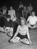 Women Meditating During their Exercises Premium Photographic Print by Loomis Dean
