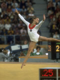 Soviet Gymnast Olga Korbut During Floor Exericises at the Summer Olympics Premium Photographic Print by John Dominis
