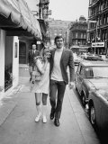 Actress Gundel Sargeant with Actor George Lazenby Who Is Auditioning for the New James Bond Film Premium Photographic Print by Loomis Dean